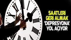 Saatleri geri almak 'depresyona yol açıyor'