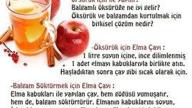 Elma Çayı ile Öksürük Ve Balgama Son