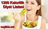 Günde 1200 Kalorilik Diyet Listesi