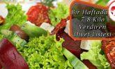 Bir Haftada 7-8 Kilo Verdiren Diyet Listesi