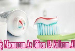 Diş Macununun Az Bilinen 13  Kullanım Alanı